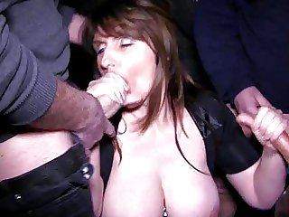 Busty brunette mummy gets..