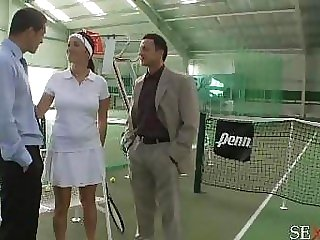 Tennis girl with big boobs..